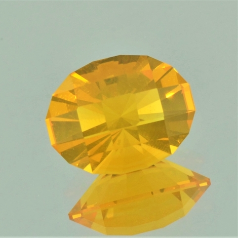 Fire Opal Oval-Design yellowish-orange 4.15 ct