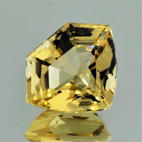 Goldberyll, Freiform facettiert (7,60 ct.) aus Nigeria