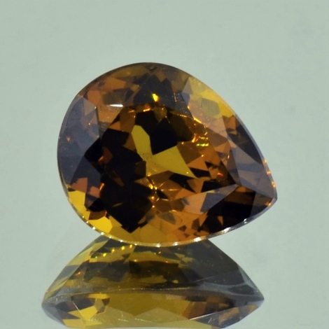 Garnet Grossularite pear yellowish brown 5.68 ct