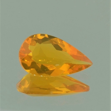 Fire Opal pear yellowish-orange 1.53 ct