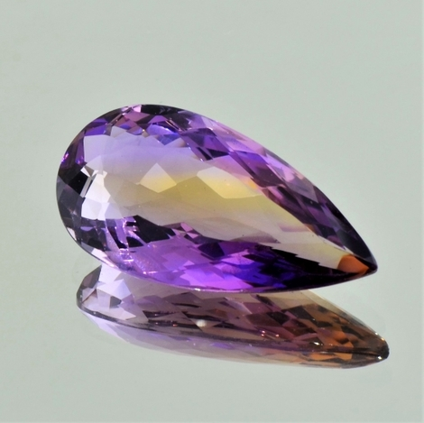 Ametrine pear 23.89 ct