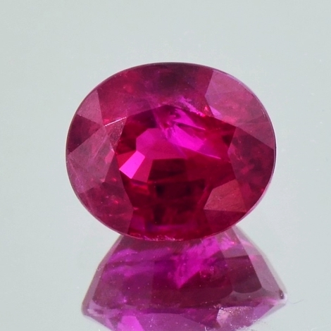 Burma Ruby oval red 3.83 ct
