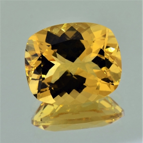Golden Beryl cushion golden yellow 9.08 ct