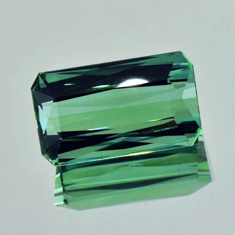 Tourmaline octagon bluish green (light tone) 15.75 ct