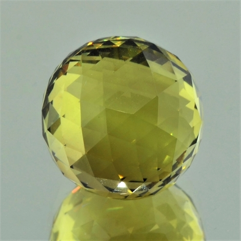 Citrine sphere faceted 35.69 ct