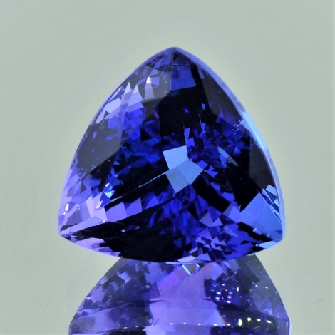 Tansanit Trillion intensives Blau 13,16 ct