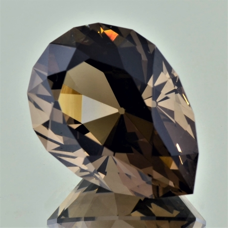 Smoky Quartz Tropfen-Design brown 32.72 ct