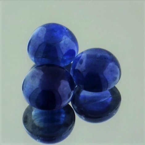 Sapphire Lot Cabochon round blue 2.67 ct