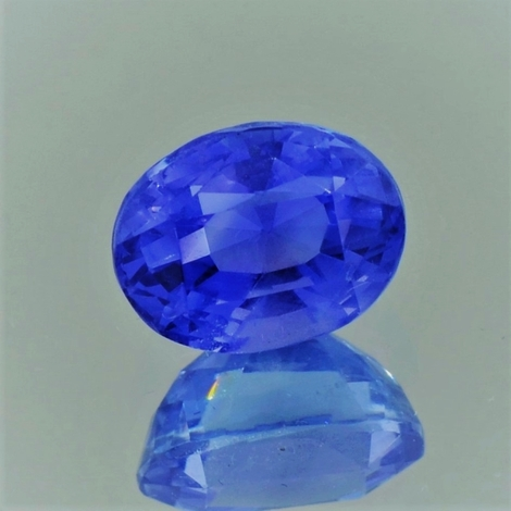 Sapphire oval blue unheated 2.44 ct