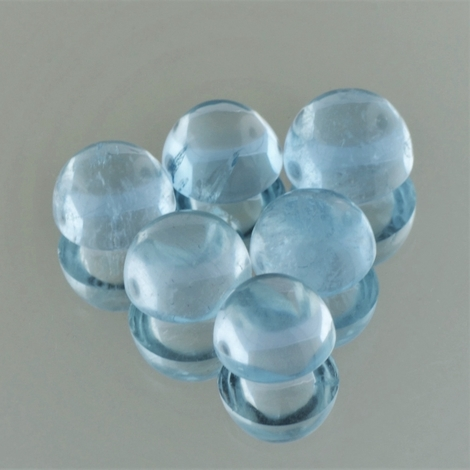 Aquamarin Lot Cabochon rund 22,70 ct