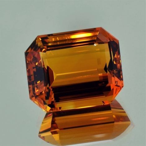 Citrine octagon orange 24.92 ct