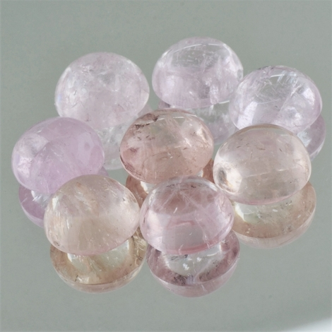 Morganite Lot Cabochons round 27.60 ct