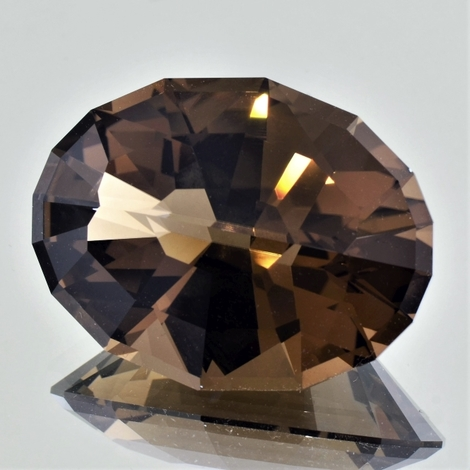 Smoky Quartz Oval-Design brown 76.37 ct