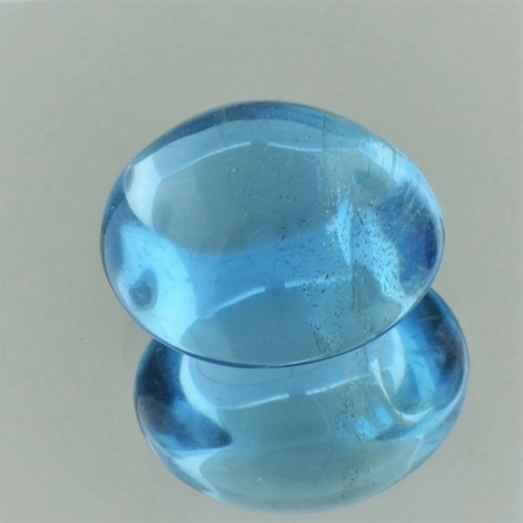 Blue Topaz Cabochon oval 10.02 ct