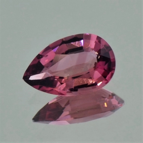 Tourmaline pear brownish pink 1.85 ct