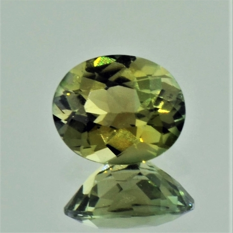 Tourmaline oval yellow green 1.25 ct