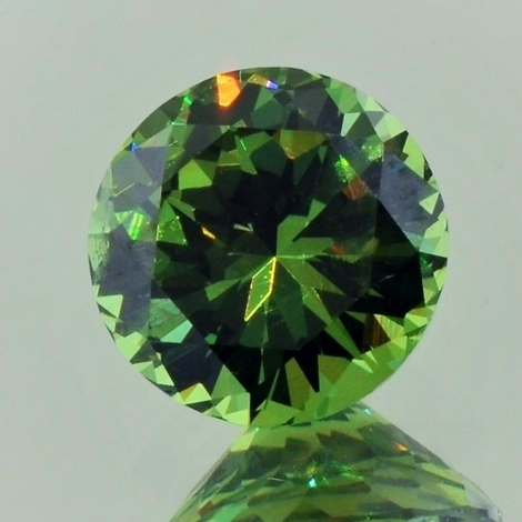 Demantoid round brilliant green 2.90 ct