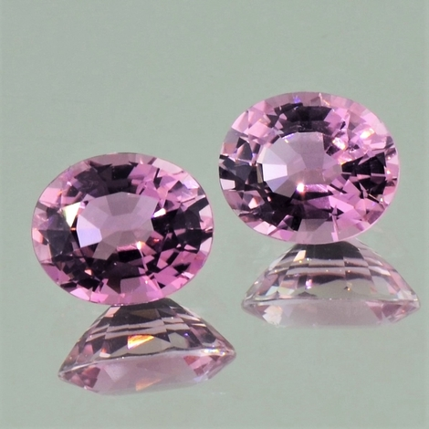 Turmalin Duo oval rosa 4,09 ct