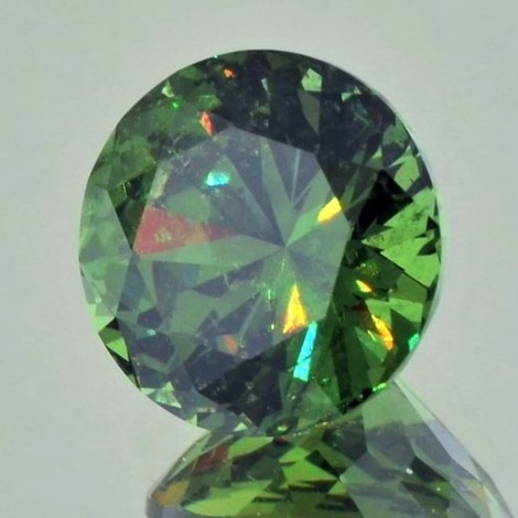 Demantoid Garnet round brilliant 6.36 ct