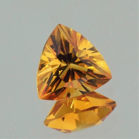 Citrine trillion orange 3.49 ct