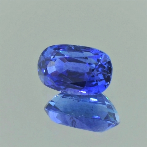 Sapphire oval blue 2.66 ct