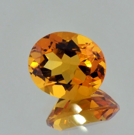 Citrine oval orange 7.61 ct