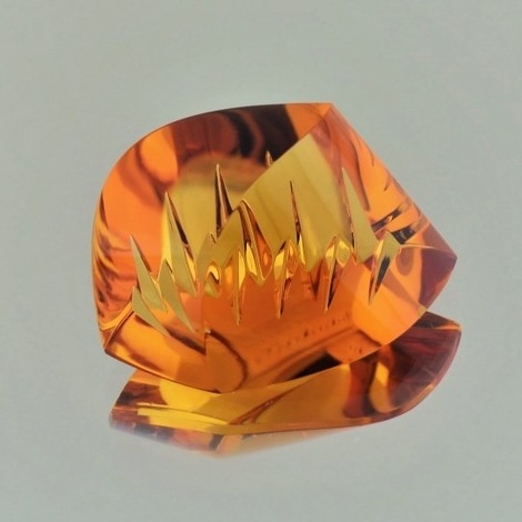 Citrine fantasy orange 23.04 ct