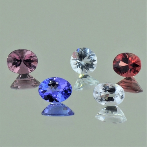 Mixed Lot facettiert multicolor 4,53 ct