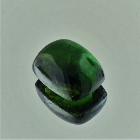 Tourmaline Cabochon barrel dark green 10.41 ct
