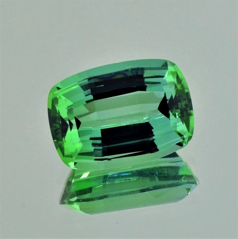 Tourmaline cushion bluish  green 9.50 ct