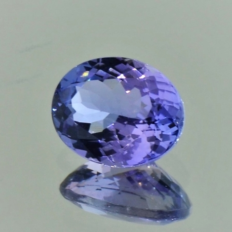 Tanzanite oval bluish lilac unheated 2.87 ct