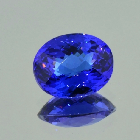 Tanzanite oval checkertop blue 8.94 ct