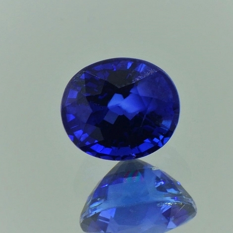 Sapphire oval blue 1.64 ct