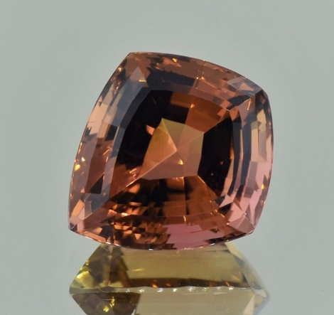 Tourmaline kite cut orange brown 12.98 ct