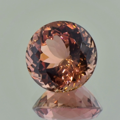 Tourmaline round brownish 14.44 ct