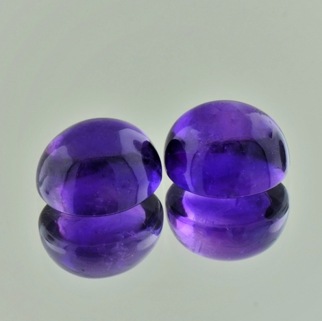 Amethyst Duo, Oval Cabochon (12,87 ct.) aus Brasilien