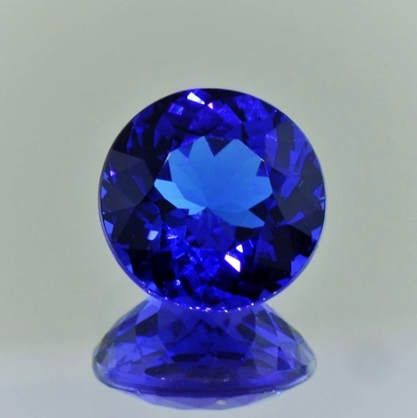 Tanzanite round intense blue 5.42 ct