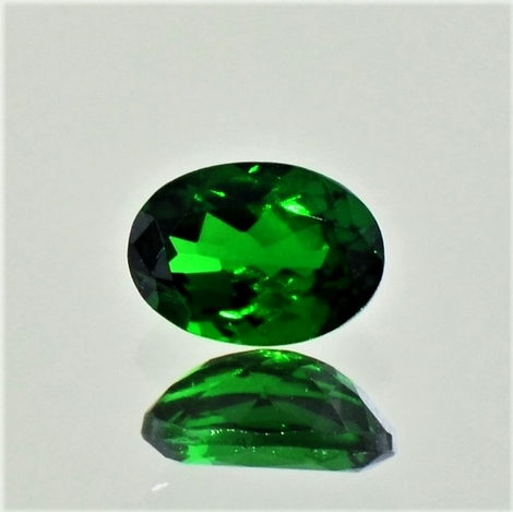 Tsavorite Garnet oval dark green 1.01 ct