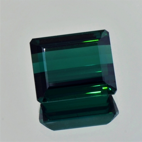 Tourmaline octagon blue green 17.18 ct