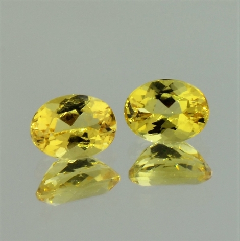Goldberyll Duo oval gelb 2,25 ct