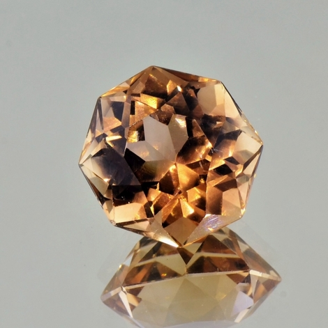 Topas octagon-design orangebraun 16,94 ct