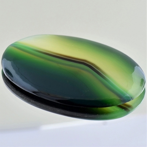 Agate cabochon oval multicolor 107.19 ct
