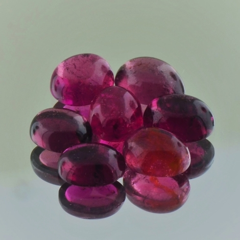 Rubellit Lot Cabochons oval 6,90 ct