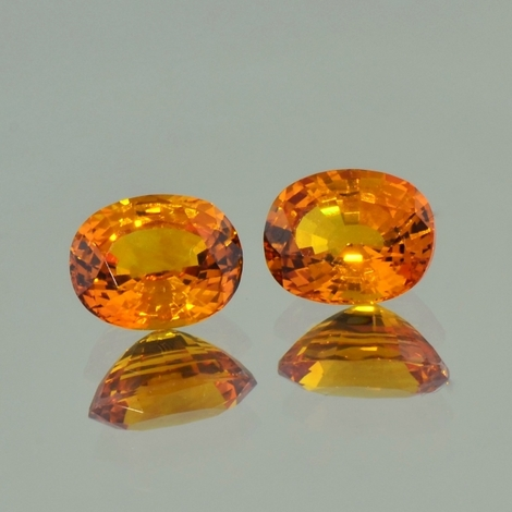 Saphir Duo oval orange 4,11 ct