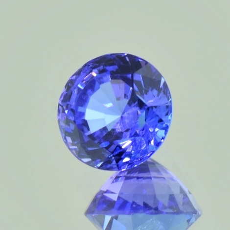 Tanzanite round blue 3.08 ct