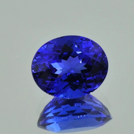 Tanzanite oval intense blue 7.78 ct