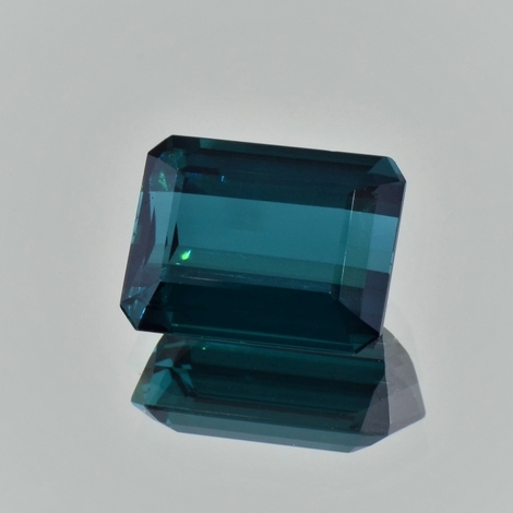 Indicolite Tourmaline octagon greenish blue 9.42 ct