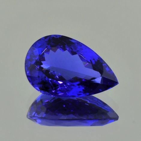 Tanzanite pear blue 13.34 ct