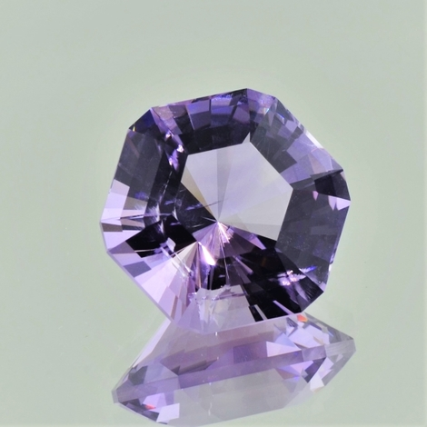 Amethyst Hexagon-Design lila 22,33 ct