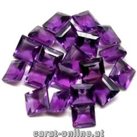 Amethyst Lot Carré ca. 4,5 ct